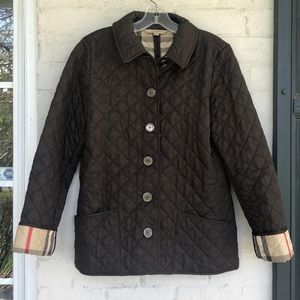 Burberry brown quilted jacket